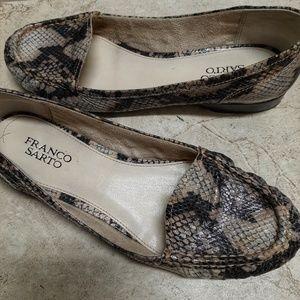 Franco Sarto snakeskin Tremor loafers size 8.5